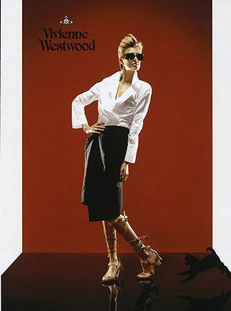 Agyness Deyn for Vivienne Westwood shot by Perou hair by Aaron Dorn