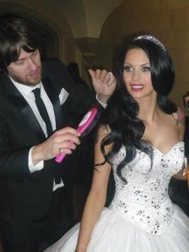 Jessica Jane Clement on her wedding day
